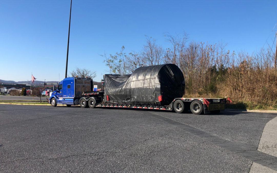 American Lighthouse Transportation Hauls Conveyor Spiral From Canton, Ohio to Mechanicsville, Virginia. See Pics…
